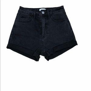Forever 21 Black High Wasted Denim Shorts